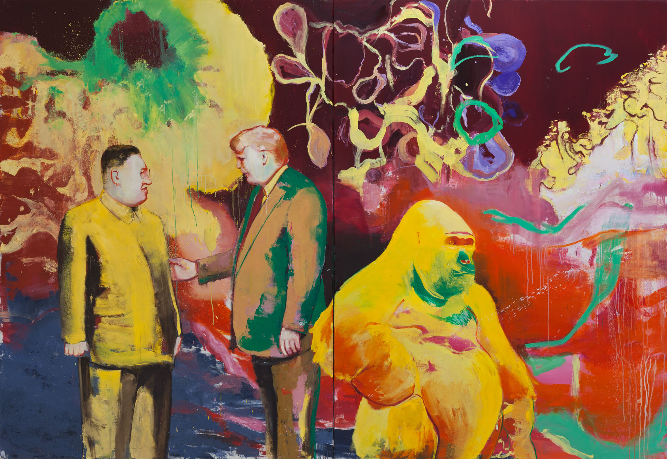 Casper Verborg | offspring | oil on canvas | 220 x 320 cm | 2018