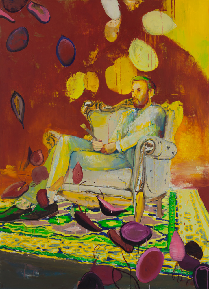 Casper Verborg | performance, painter | oil on canvas | 220 x 160 cm | 2018-2020
