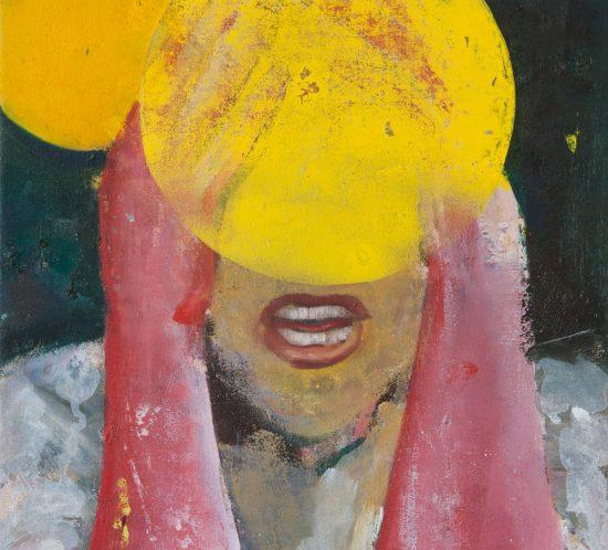 Casper Verborg | icon #2 | oil and spray paint on canvas | 40 x 30 cm | 2018