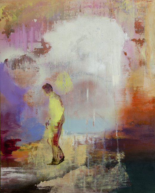 Casper Verborg | wanderer | oil, spraypaint and acrylics on wooden panel | 50 x 40 cm | 2019