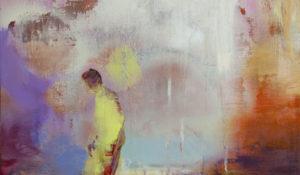 Casper Verborg   detail of 'wanderer'   oil, spraypaint and acrylics on wooden panel   50 x 40 cm   2019