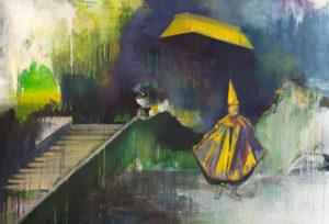 play| painting by Casper Verborg