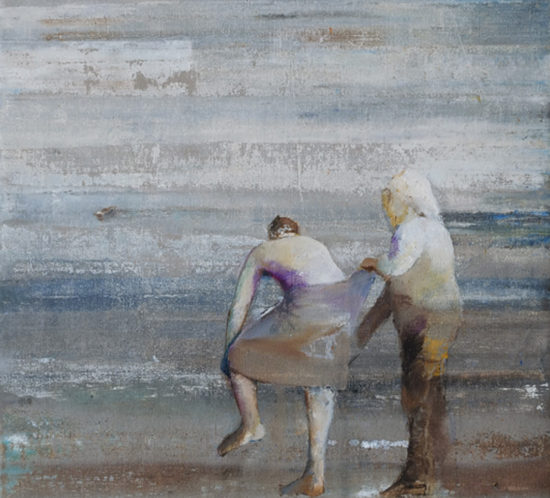 Casper Verborg | equilibrium | oil and spray paint on canvas | 50 x 40 cm | 2020