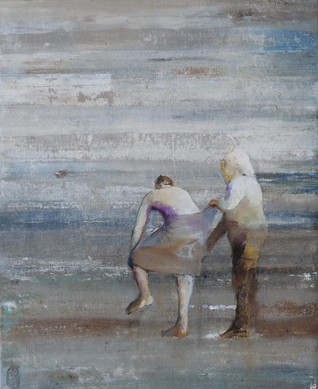 Casper Verborg   equilibrium   oil and spray paint on canvas   50 x 40 cm   2020