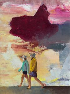 Casper Verborg   Future Echo   oil paint on canvas   40 x 30 cm   2020